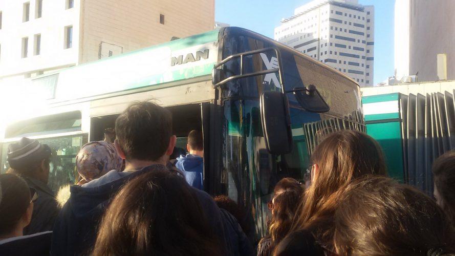 הצפיפות בקו אוטובוס 31 בירושלים (צילום: פרטי)