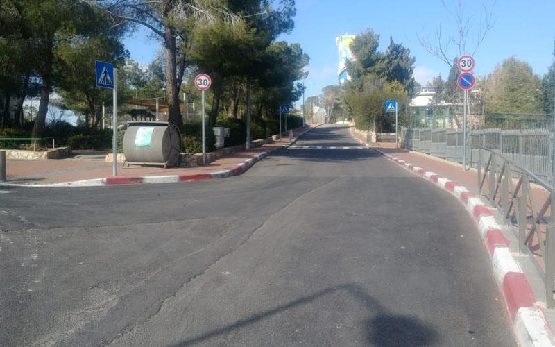 הכביש החדש בקרית מנחם (צילום: פרטי)