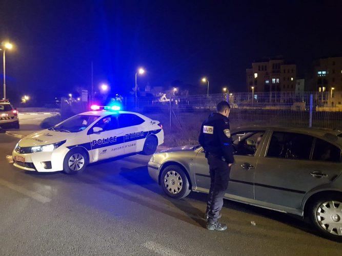 מבצע לתפיסת נהגים שיכורים בסוף השבוע בירושלים (צילום: דוברות המשטרה)