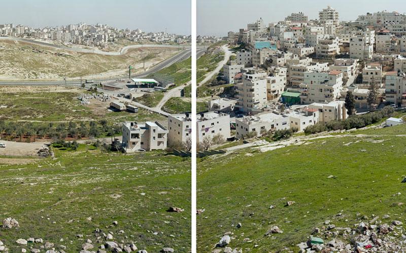 עיסאוויה ומחנה פליטים שועפאט - מתוך התערוכה 'לגטימיות של נוף' (צילום: יעקב ישראל)