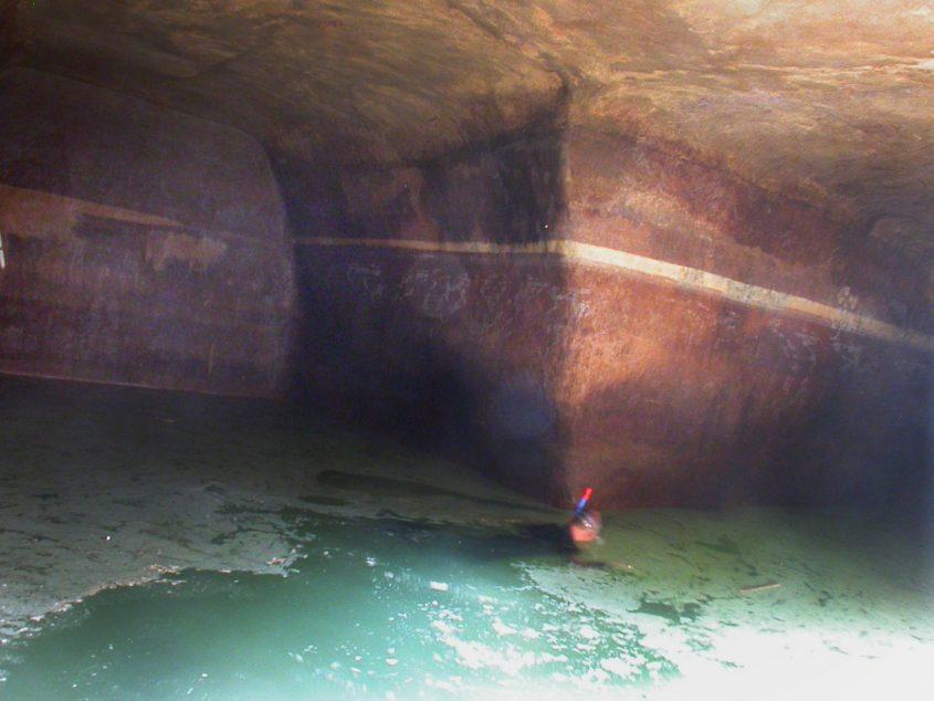 בור המים העצום במושבה הגרמנית (צילום: רשות העתיקות)