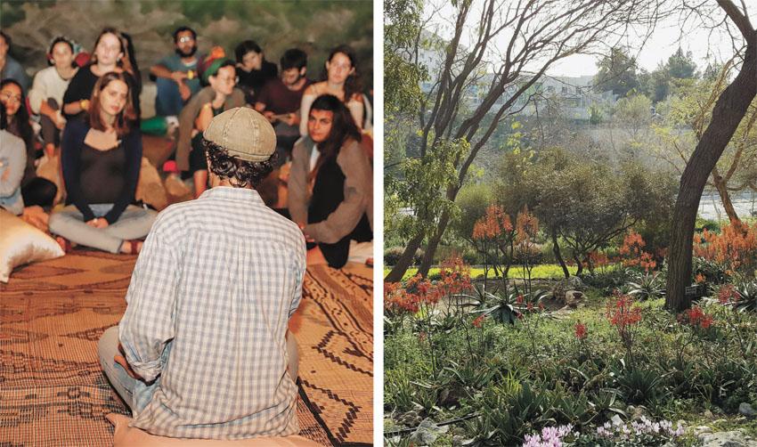 """פריחה בגן הבוטני, אירוע ט""""ו בשבט במגדל דוד (צילומים: צביה אדלר, ריקי רחמן)"""