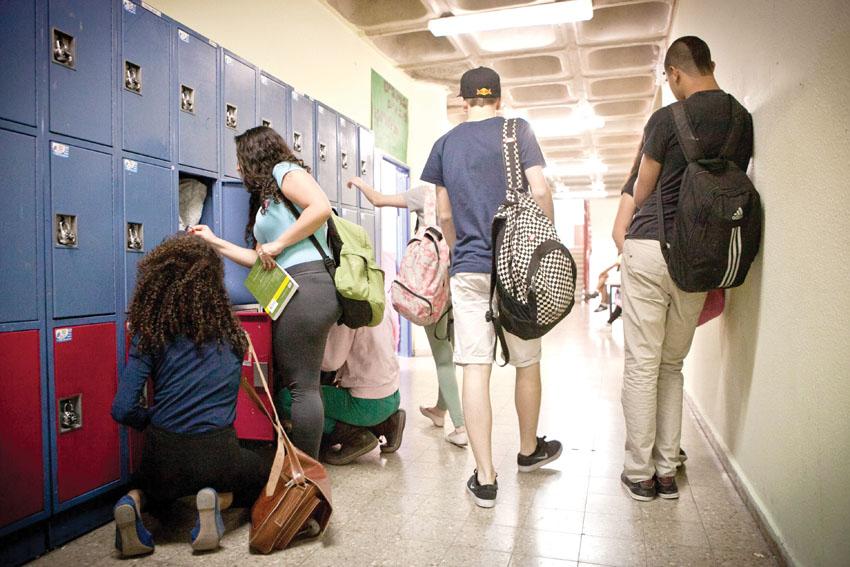 תלמידים בבית ספר (צילום: מיכל פתאל)
