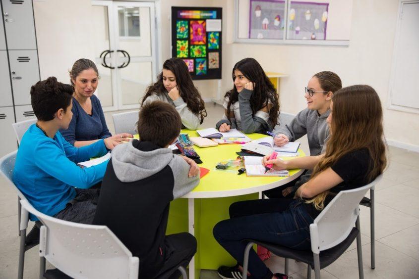 תלמידי סליגסברג (צילום: מאיר חדש)