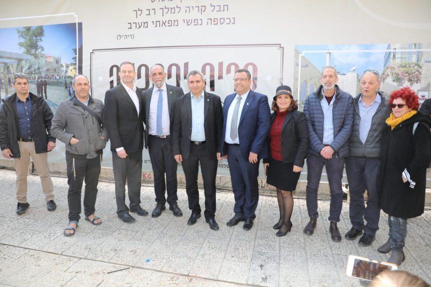 השקת פרויקט קריה יפהפייה ברובע היהודי (צילום: שלומי כהן)