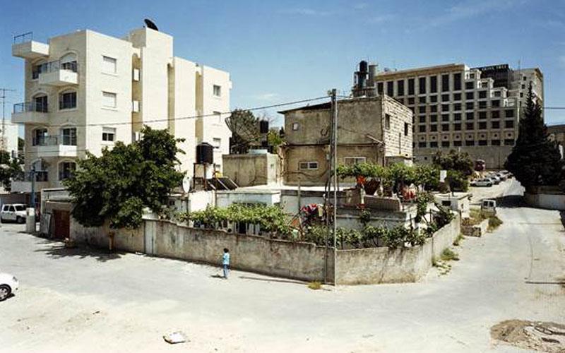 """השטח שעליו יוקם פרויקט מגורים ליהודים בשייח ג'ראח (צילום: אדריכל גדעון חרל""""פ)"""