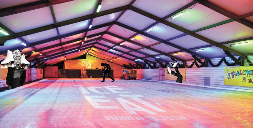 """מתחם 'IceEat' בפארק מיטשל במשכנות שאננים (צילום: יח""""צ)"""