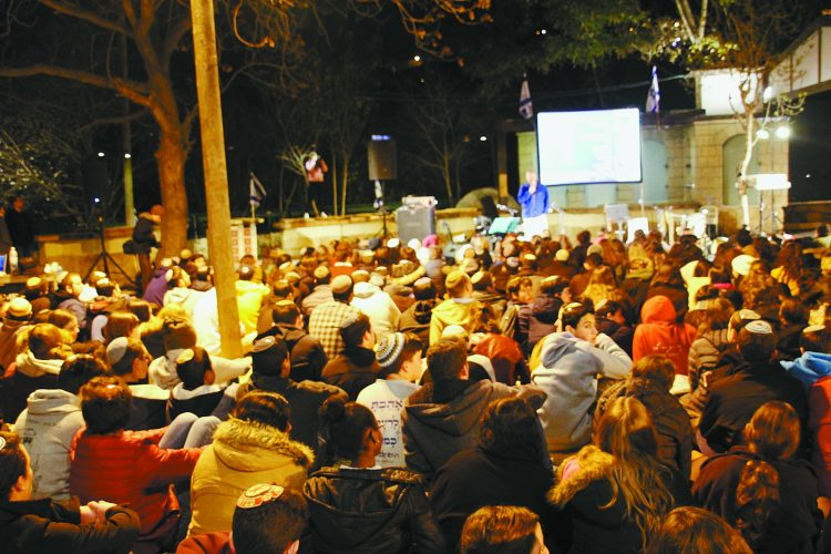 """ערב לזכרה של אורי אנסבכר ז""""ל (צילום: בני עקיבא)"""