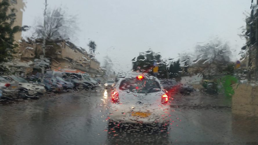 חורף, גשם בירושלים (צילום: פרטי)