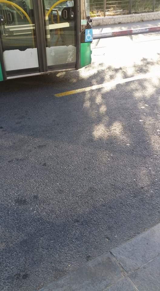 תחנות האוטובוסים בקמפוס הר הצופים, ירושלים (צילום: פרטי)
