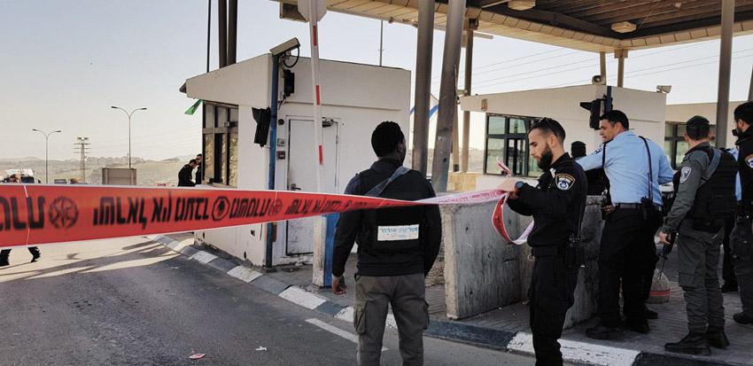 מחסום א-זעיים (צילום: דוברות המשטרה)
