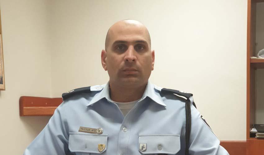 """רפ""""ק גיא אברהמי (צילום: דוברות המשטרה)"""
