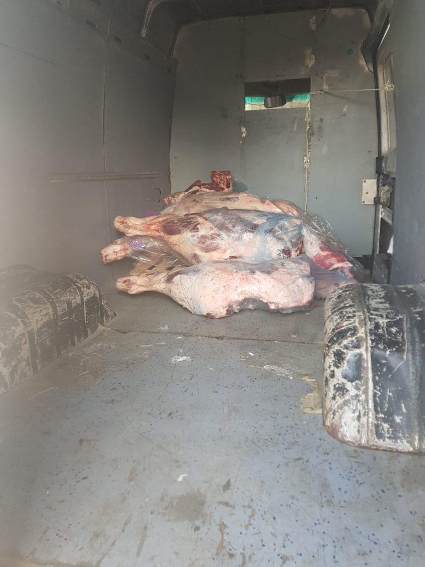 חלק מהבשר שנתפס (צילום: דוברות המשטרה)