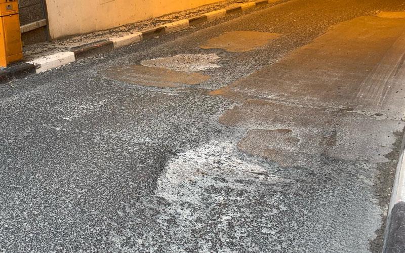 """הבורות במנהרת צה""""ל (צילום: באדיבות המצלם)"""