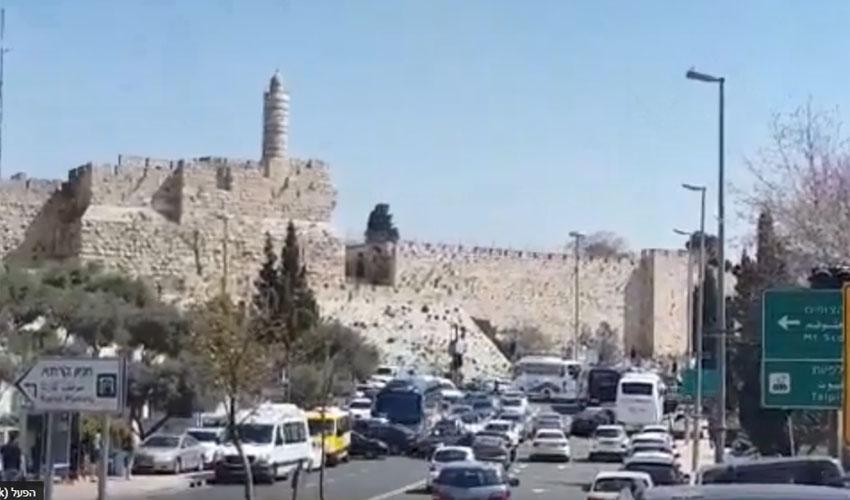 מתוך הסרטון שצילם אחד מנהגי אוטובוסים של התיירים (צילום: פרטי)