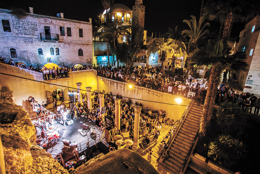 פסטיבל צלילים בעיר העתיקה בשנה שעברה (צילום: קובי שרביט)