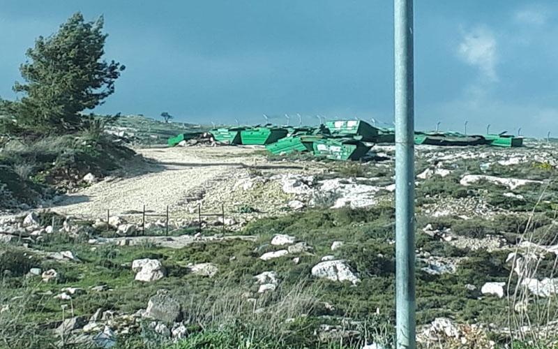 אתר הפינוי של פחי 'הצפרדע' בוואדי רמות (צילום: א.א)