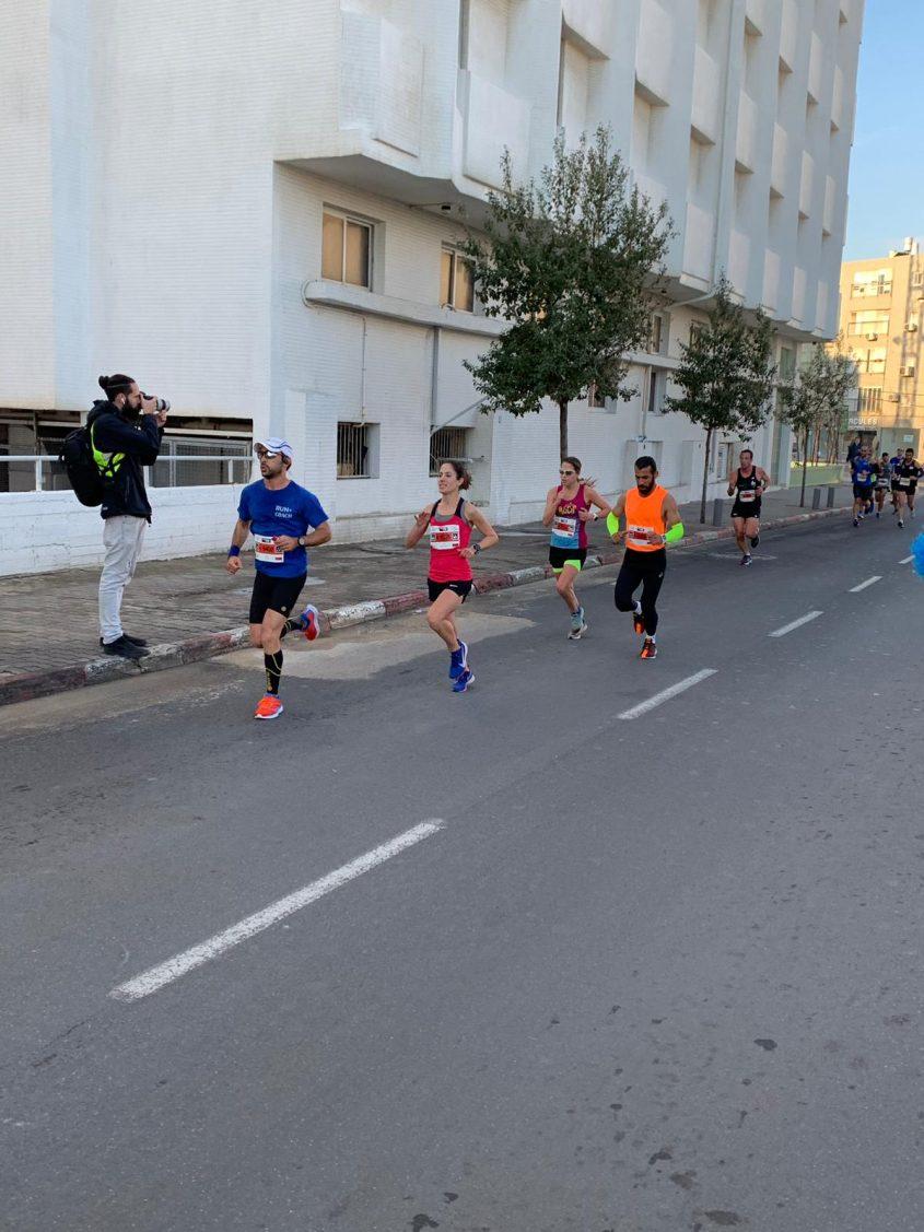 רותי זינדל-אוכמן, חצי מרתון תל אביב 2019 (צילום: ארז אלגזי)