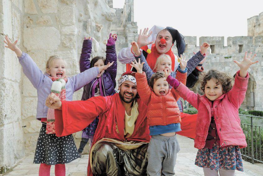 פורים במגדל דוד (צילום: ריקי רחמן)