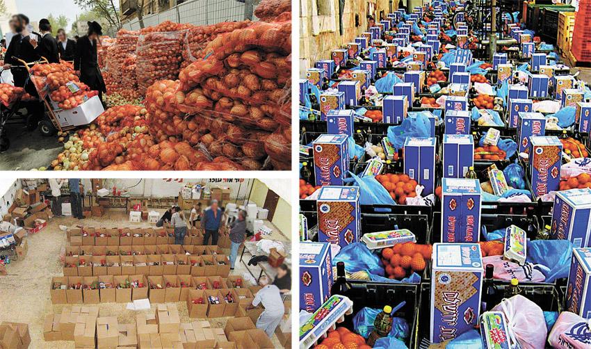 לקראת ערב החג: זינוק בביקוש לסלי מזון בירושלים