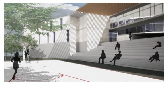 מוזיאון ומרכז קהילתי א-טור (הדמיה: אדריכלית איילה רונאל)