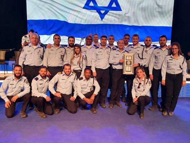 שוטרי יחידת משטרת תנועה ארצית שלוחת ירושלים (צילום: דוברות המשטרה)