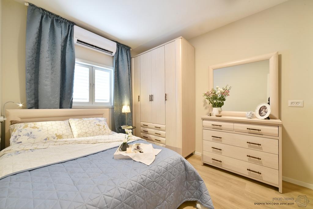 עיצוב חדר שינה (צילום: דינה טננבאום)