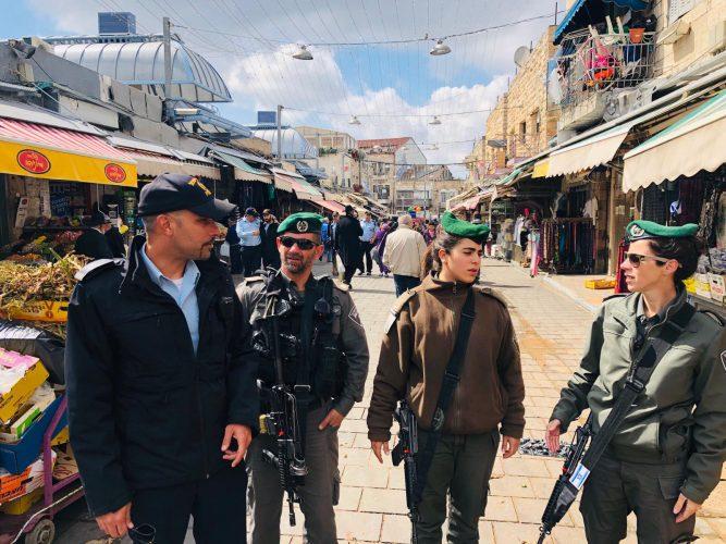 כוננות משטרתית, חג הפסח 2019 בירושלים (צילום: דוברות המשטרה)