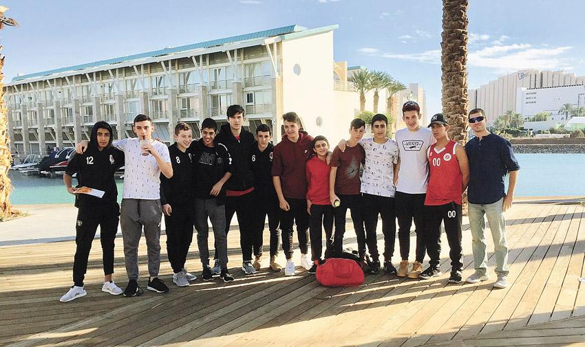 נערים א' של הפועל בכדורסל (צילום: חסוס טומא)