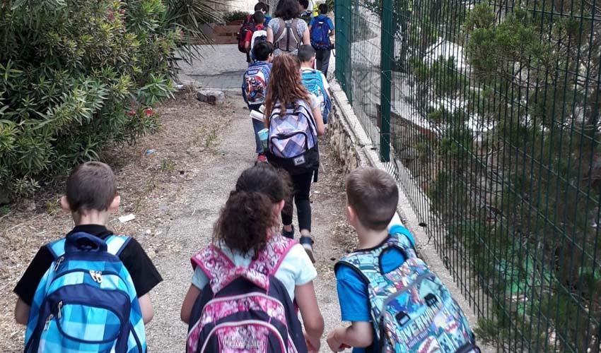 תלמידי בית הספר מנשה אלישר (צילום: עיריית ירושלים)