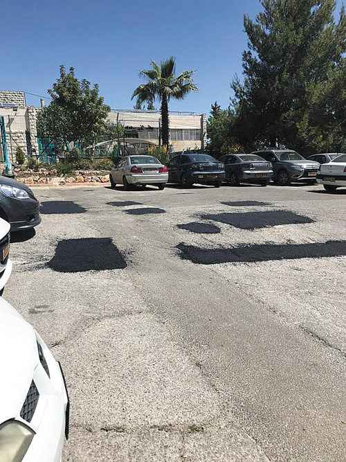 רחבת החניה בגבעה הצרפתית (צילום: דוברות העירייה)