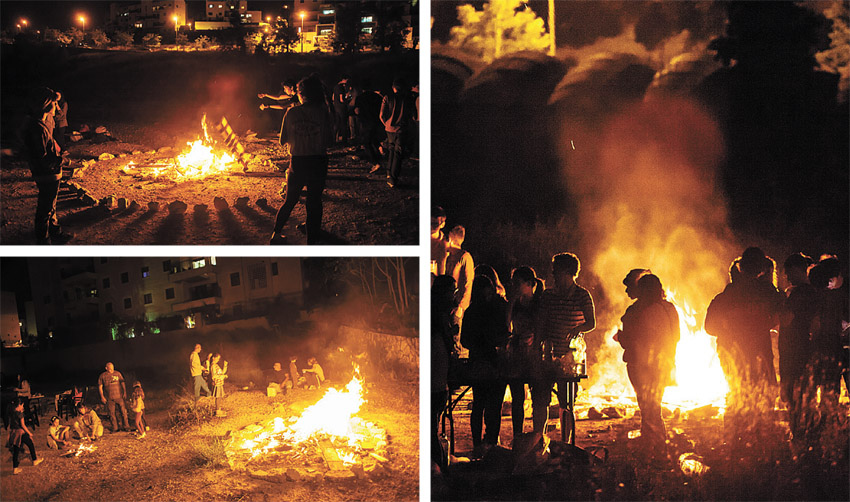 """מדורות ל""""ג בעומר בירושלים (צילומים: אמיל סלמן)"""