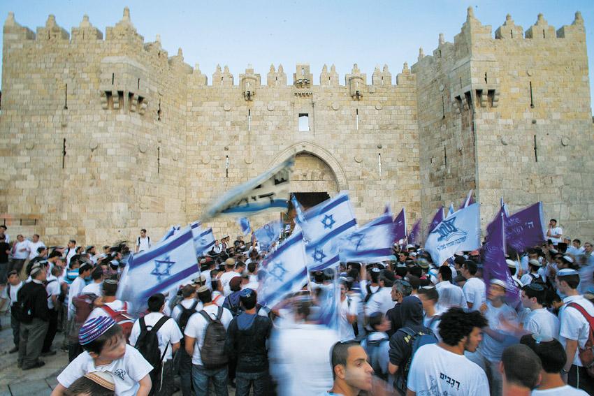 מצעד ריקוד הדגלים, יום ירושלים 2019 (צילום: אמיל סלמן)