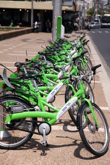 """תחנה להשכרת אופניים בתל אביב, """"תל-אופן"""" (צילום: אלון רון)"""