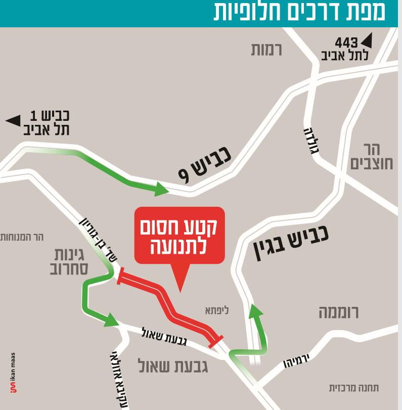 מפת הדרכים החלופיות והעבודות בצומת סחרוב
