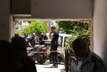 זירת הרצח ברחוב בר יוחאי, קטמונים (צילום: דוברות המשטרה)