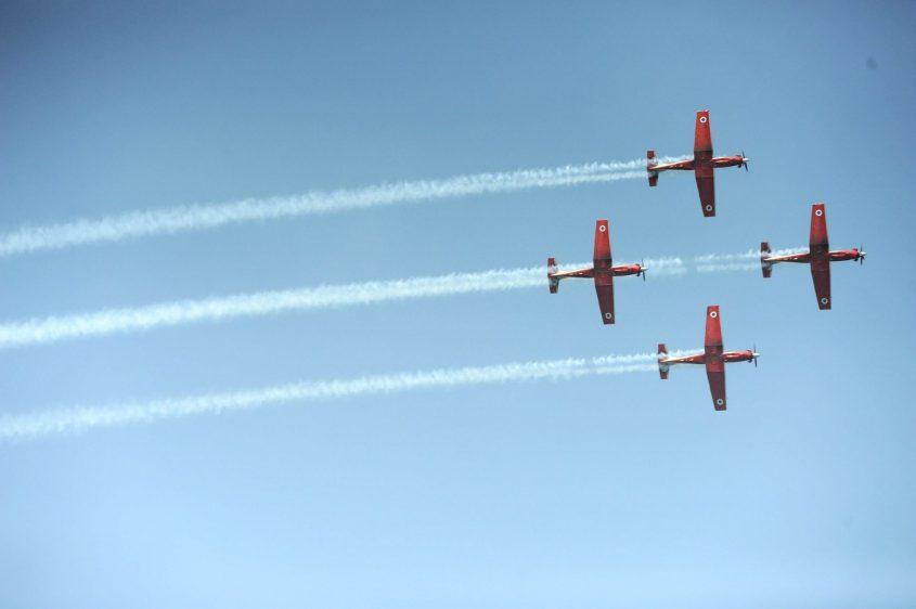 מטס חיל האוויר ביום העצמאות (צילום: רמי שלוש)