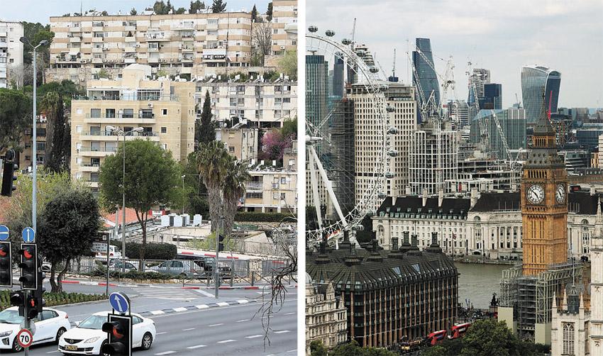 לונדון, קרית היובל (צילומים: Hannah Mckay-Reuters, שלומי כהן)