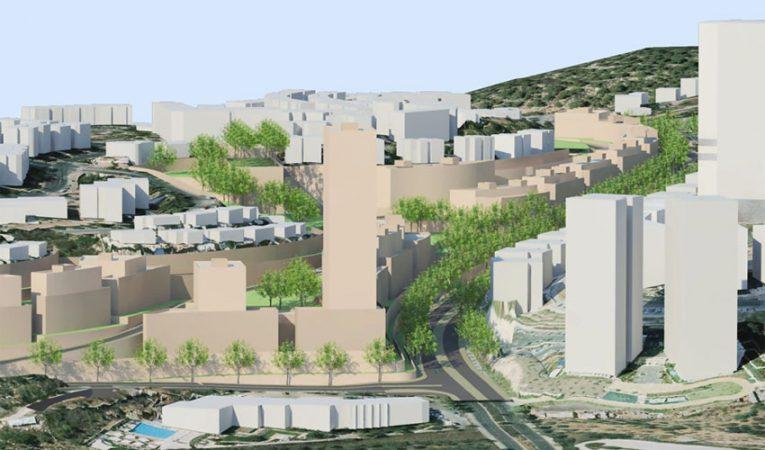 """מתחם המגורים החדש בגבעת משואה (הדמיה: קולקר אפשטיין אדריכלים בע""""מ)"""