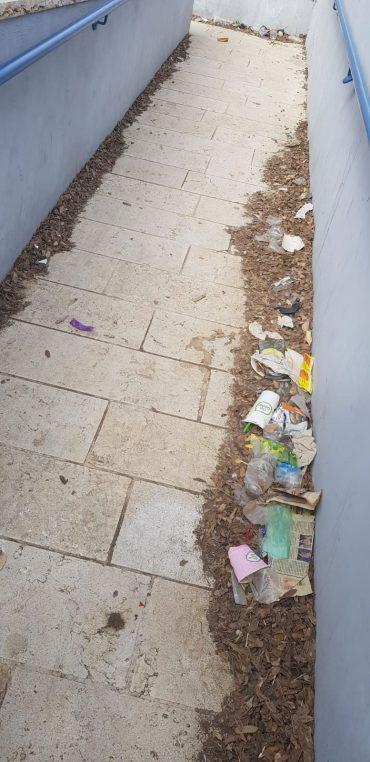 """האשפה סמוך למתנ""""ס קנגורו (צילום: פרטי)"""
