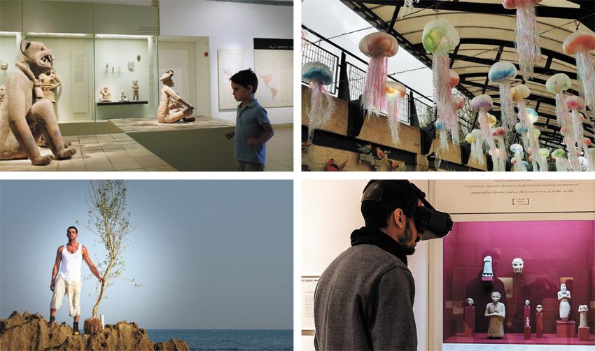 מוזיאון ישראל, מוזיאון המדע, מציאות מדומה במוזיאון ארצות המקרא, תערוכה במוזיאון על התפר (צילומים: אמיר רונן, נועם כהן, שי וזדיאס, Yael Bartana - A Declaration)