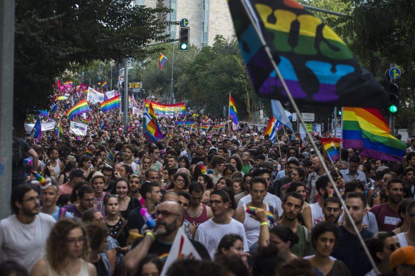 מצעד הגאווה 2018 (צילום: אוליבייה פיטוסי)