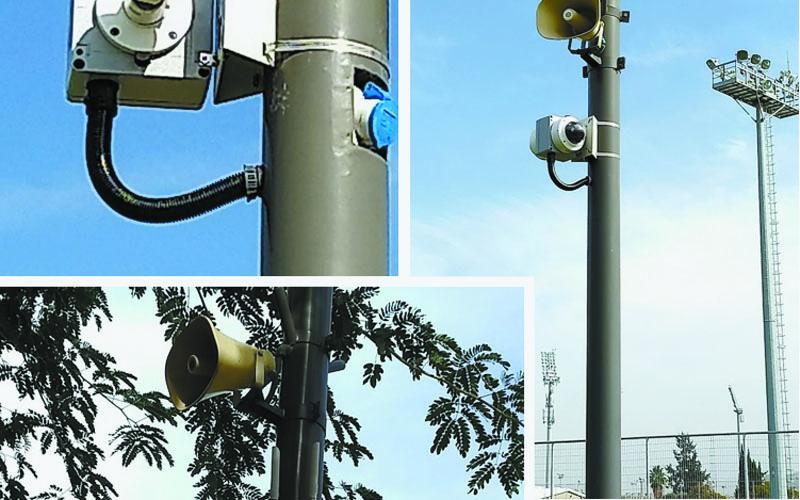 מצלמות אבטחה ומערכות כריזה ברחבי ירושלים (צילום: באדיבות עיריית ירושלים)