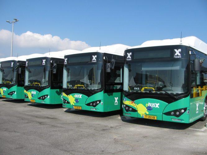 האוטובוסים החשמליים החדשים בירושלים (צילום: ארכיון אגד, וינשטוק צבי)
