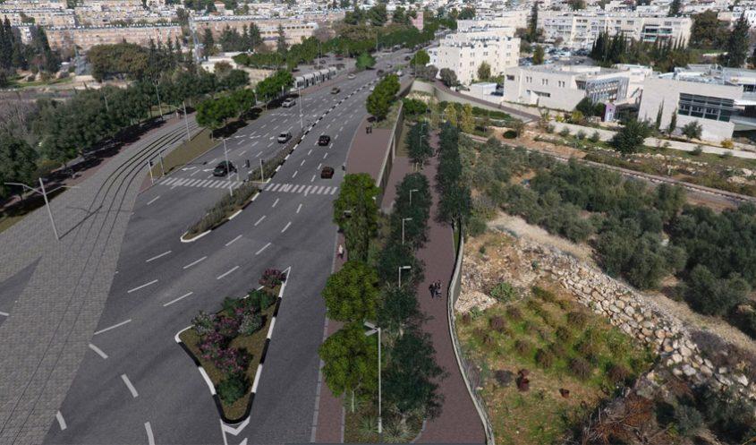 קו הרכבת הקלה לגילה (הדמיה: צוות תכנית אב לתחבורה ירושלים)