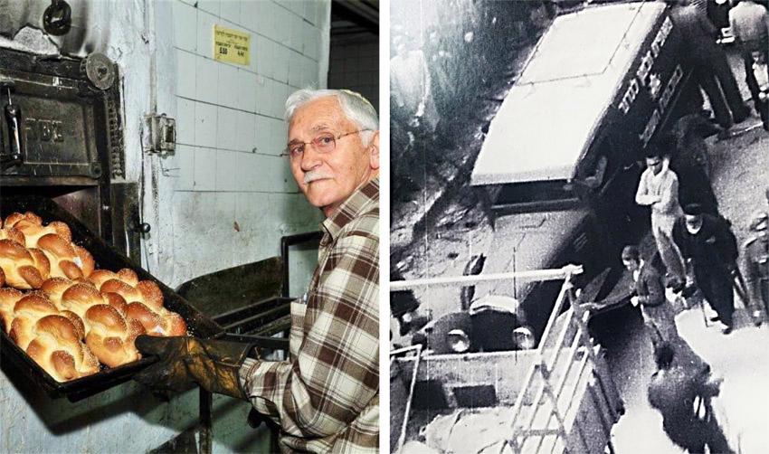 """רכב מאפיית לנדנר בבית ישראל, תקופת המנדט הבריטי, מתי לנדנר ז""""ל (צילום: באדיבות דובי לנדנר)"""