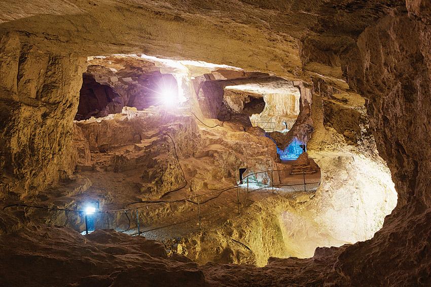 העיר העתיקה מתחת לאדמה (צילום: יעל הרמן)