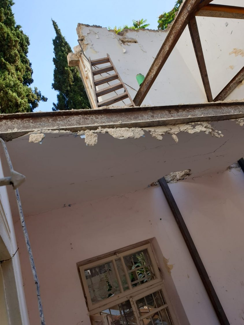 אתר קריסת הקיר במקור ברוך (צילום: דוברות כבאות והצלה ירושלים)