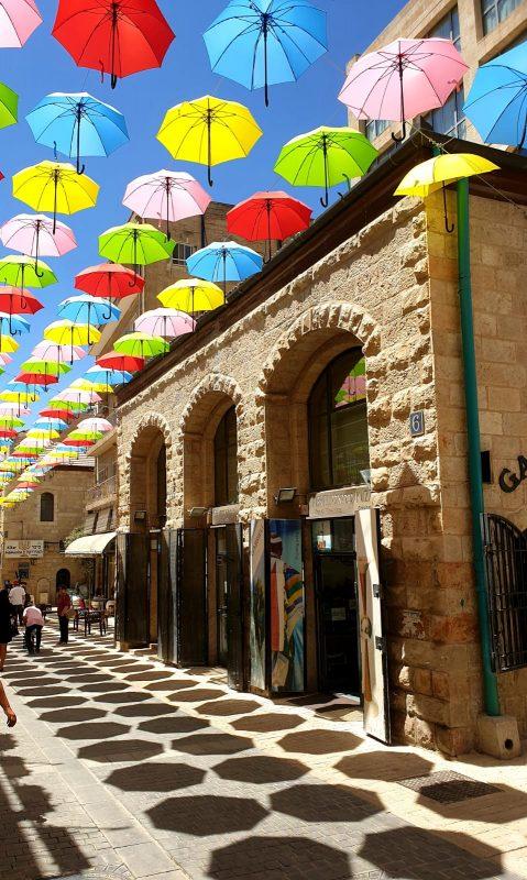 רחוב יואל משה סולומון, השבוע (צילום: מינהל קהילתי לב העיר)