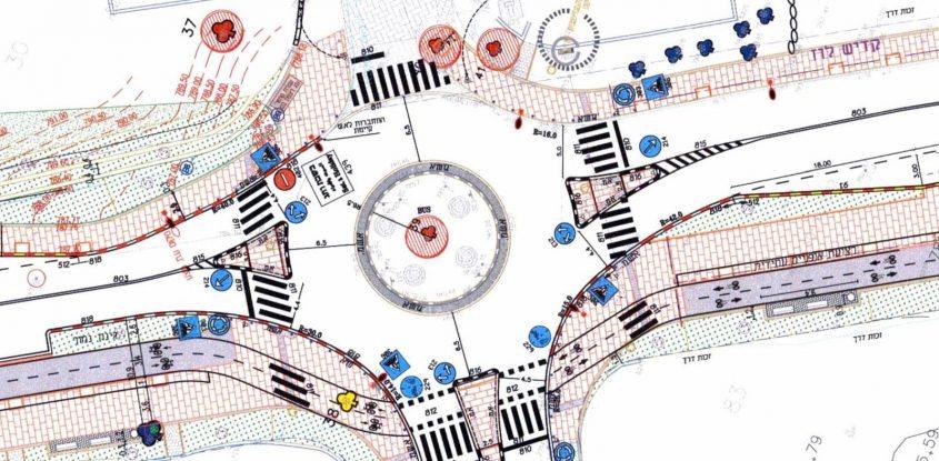 המפה שמציגה את חסימת הרחוב